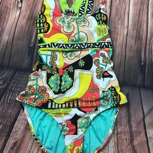 Trina Turk Modern Garden One Piece Swimsuit